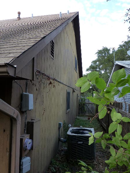 Wood Siding Repair - Before
